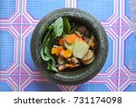 malay traditional herbal... | Shutterstock . vector #731174098