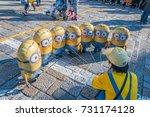 osaka  japan   october 26  2015 ... | Shutterstock . vector #731174128