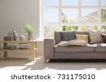 idea of white room with sofa... | Shutterstock . vector #731175010