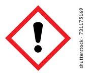 standard pictogam of harmful... | Shutterstock .eps vector #731175169