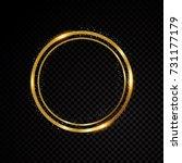 vector round frame. shining... | Shutterstock .eps vector #731177179
