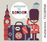 london vector flat style... | Shutterstock .eps vector #731180968