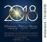 vector chic happy new year 2018 ...   Shutterstock .eps vector #731182258