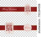 christmas festive banners with...   Shutterstock .eps vector #731184508