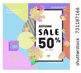 autumn sale memphis style web... | Shutterstock .eps vector #731187166