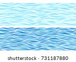 set of two seamless patterns... | Shutterstock .eps vector #731187880