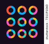 circle segments set vector ... | Shutterstock .eps vector #731191060