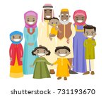 happy extended muslim smiling... | Shutterstock .eps vector #731193670