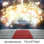 stage lighting background 3d... | Shutterstock . vector #731197264