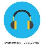 headphones vector icon. vector... | Shutterstock .eps vector #731198989