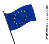 flag of european. european icon ... | Shutterstock .eps vector #731203588