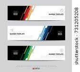 design of flyers  banners ... | Shutterstock .eps vector #731205208