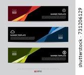 design of flyers  banners ... | Shutterstock .eps vector #731206129