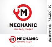letter m logo template design... | Shutterstock .eps vector #731207410