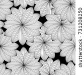 abstract monochrome floral... | Shutterstock . vector #731208250