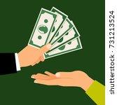 hands with money  vector...