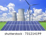 nuclear power plants ... | Shutterstock . vector #731214199