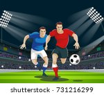 football players are fighting... | Shutterstock .eps vector #731216299