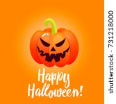 bright banner with pumpkins for ... | Shutterstock .eps vector #731218000