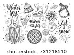merry christmas and happy new... | Shutterstock .eps vector #731218510