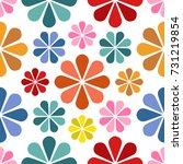 floral pattern design  babies... | Shutterstock .eps vector #731219854