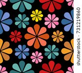 floral pattern design  babies... | Shutterstock .eps vector #731219860