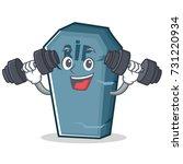 fitness tombstone character... | Shutterstock .eps vector #731220934