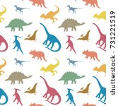 seamless pattern with colorful... | Shutterstock .eps vector #731221519