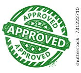 approved stamp | Shutterstock .eps vector #731222710