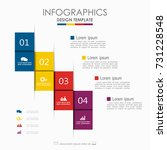 infographic template. vector... | Shutterstock .eps vector #731228548