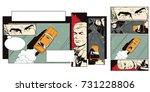 stock illustration. people in...   Shutterstock .eps vector #731228806