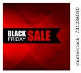 black friday sale banner.... | Shutterstock .eps vector #731236030