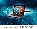 computer virus concept. virus... | Shutterstock . vector #731241043