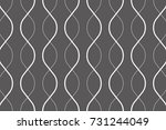 abstract vector wave line. | Shutterstock .eps vector #731244049