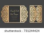 laser cut gate fold card... | Shutterstock .eps vector #731244424