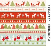christmas seamless colorful... | Shutterstock .eps vector #731244658