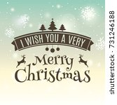 merry christmas greeting card.... | Shutterstock .eps vector #731246188