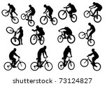 vector drawing silhouette of a... | Shutterstock .eps vector #73124827