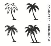 palm tree vector icons set.... | Shutterstock .eps vector #731248420