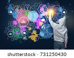 back view of young male... | Shutterstock . vector #731250430