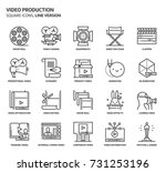 video production  square icon... | Shutterstock .eps vector #731253196