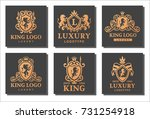 luxury boutique royal crest... | Shutterstock .eps vector #731254918