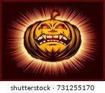 Halloween Pumpkin With Open...