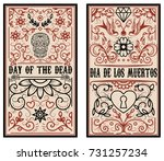 day of the dead. dia de los... | Shutterstock .eps vector #731257234