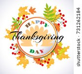 happy thanksgiving abstract... | Shutterstock .eps vector #731262184