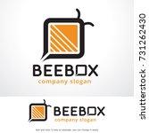 bee box logo template design... | Shutterstock .eps vector #731262430