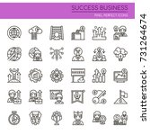 success business   thin line... | Shutterstock .eps vector #731264674