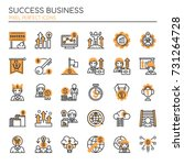 success business   thin line... | Shutterstock .eps vector #731264728