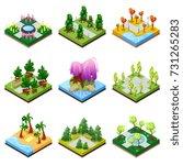 public park landscapes... | Shutterstock .eps vector #731265283