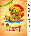 illustration of happy chhath... | Shutterstock .eps vector #731267143